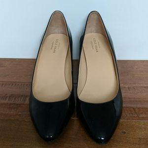 Cole Haan Black Patent Leather Wedges pointed toe